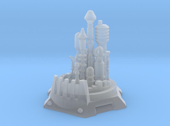 Bottle City of Kandor 3d printed