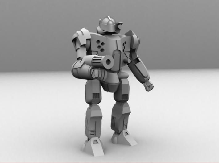 Densha Mecha 1/285 6mm 3d printed CG image of the actual model
