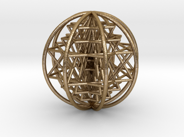 "3D Sri Yantra 8 Sided Optimal Large 3"" 3d printed"