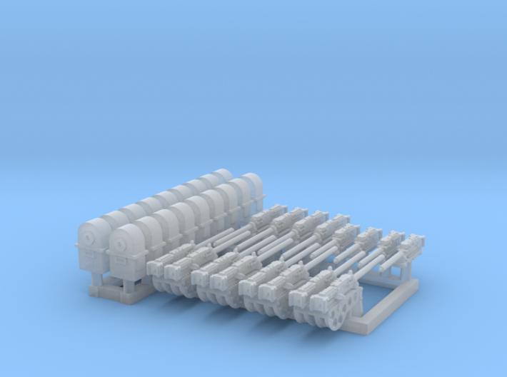 1/72 M2 Air Cooled M2 MG Mount Set001 3d printed