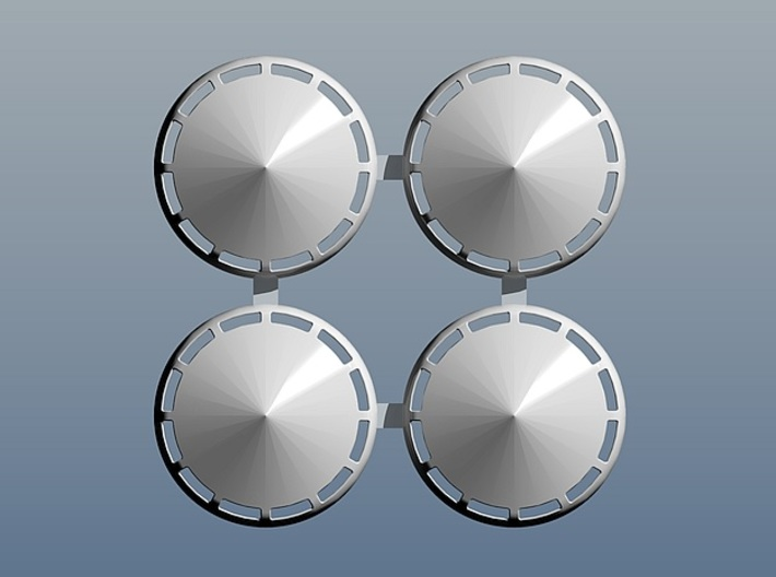 1972 AMC Hubcaps without scripting 3d printed 3d rendering