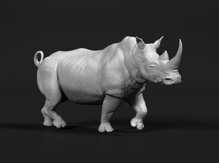 White Rhinoceros 1:120 Running Male 3d printed
