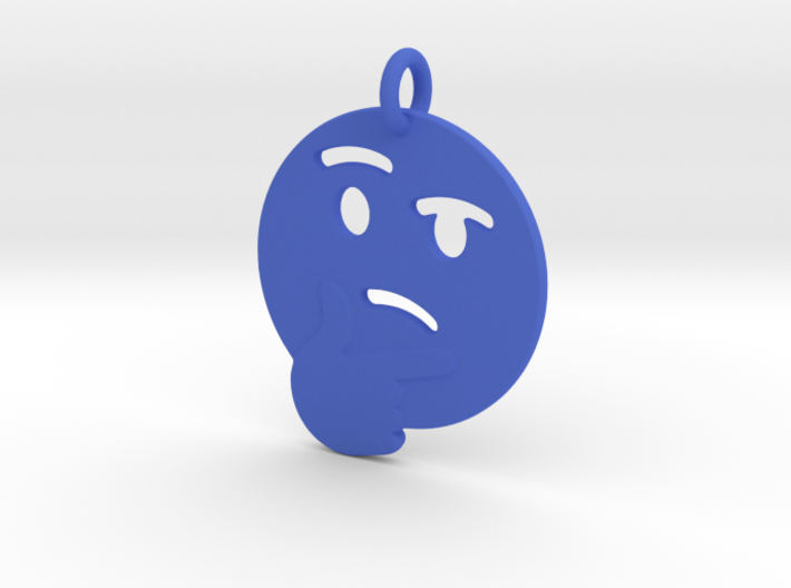 Thinking Emoji Pendant 3d printed
