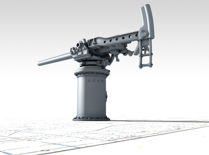 """1/128 Hotchkiss 3-pdr 1.85""""/40 (47mm) x1 3d printed 3d render showing product detail"""