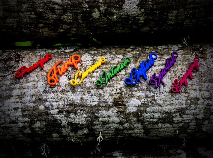 Spirited Pendant - Vivid Colors 3d printed Custom words available
