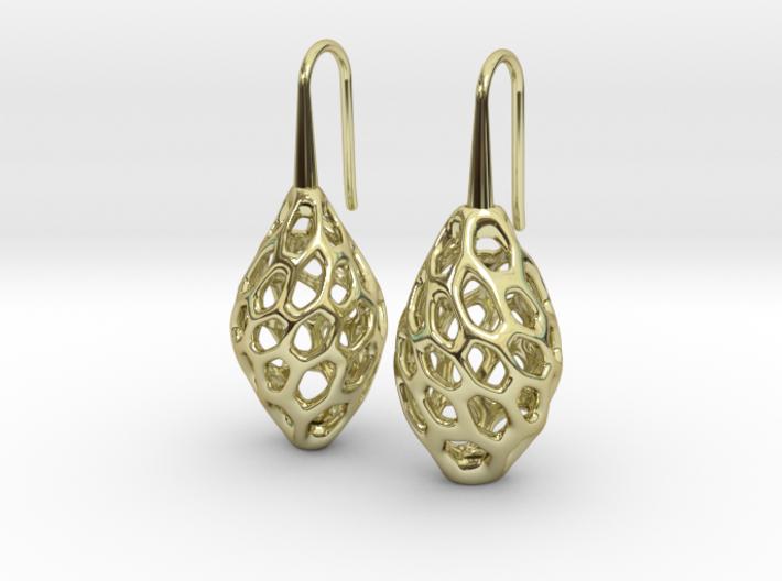 HONEYBIT Twist Earrings 3d printed