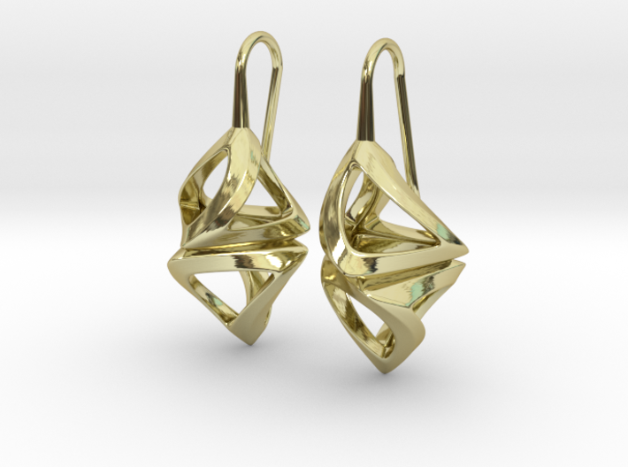Trianon Twist, Earrings 3d printed