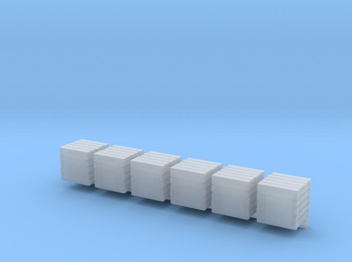 10x10mm wooden crates 3d printed
