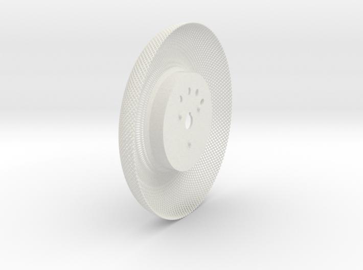 C-LRV wheel inner mesh & hub-FL&BR 3d printed