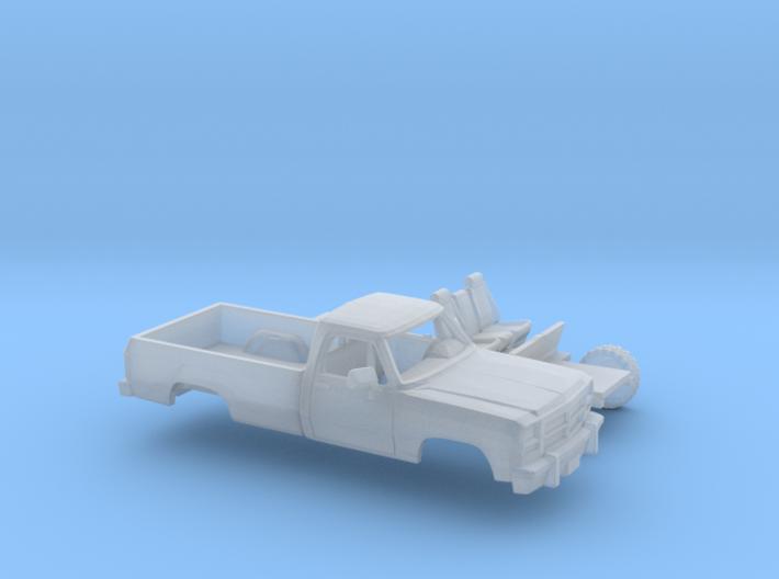 1/87 1991-93 Dodge Ram RegCab Long Bed Kit 3d printed