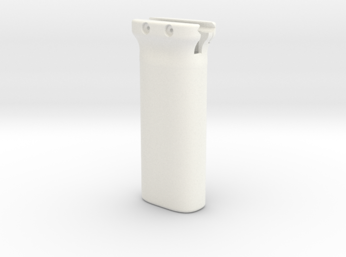 Magpul-style battery holder fore grip for Picatinn 3d printed