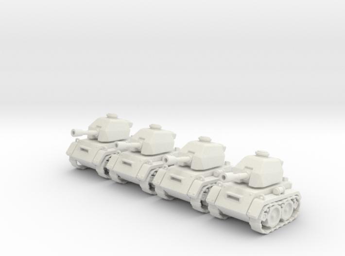 Micro Tank x4 3d printed