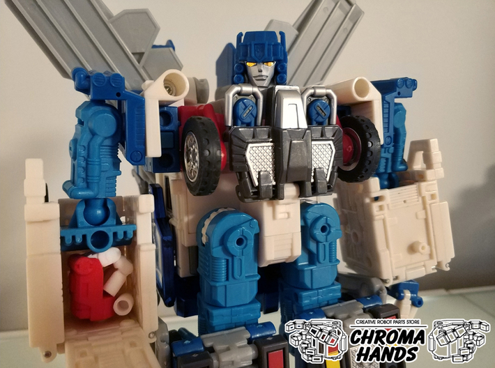 RID Omega Prime articulated hands - PALMS ONLY 3d printed