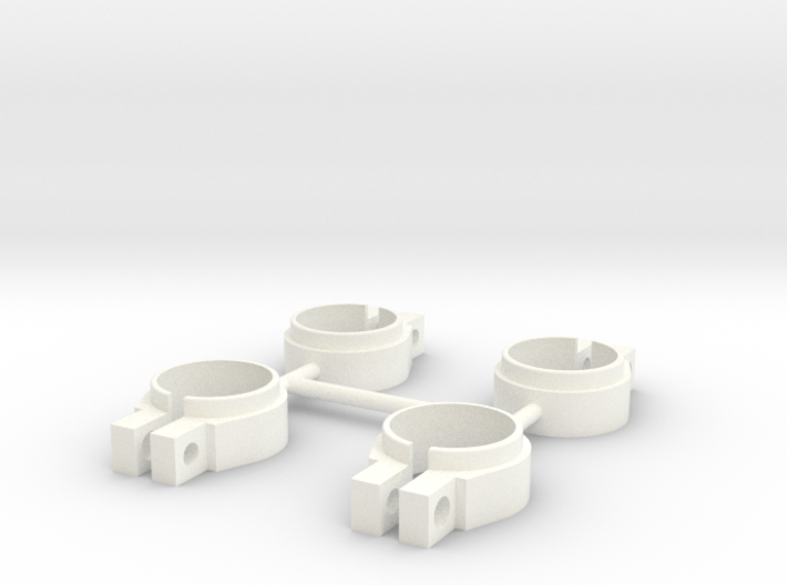 ASC6474 - White Shock Clamps 3d printed