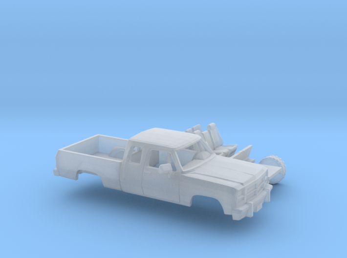 1/160 1991-93 Dodge Ram ExtCab Short Bed Kit 3d printed