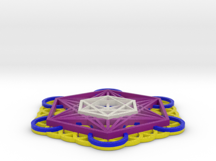 Sacred Geometry: 125mm Metatrons Cube & Flower of  3d printed