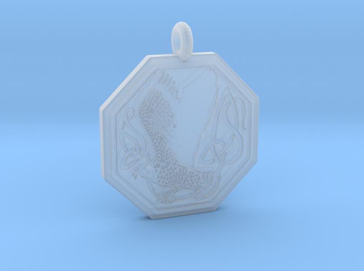 Birds Celtic Octogonal Pendant 3d printed