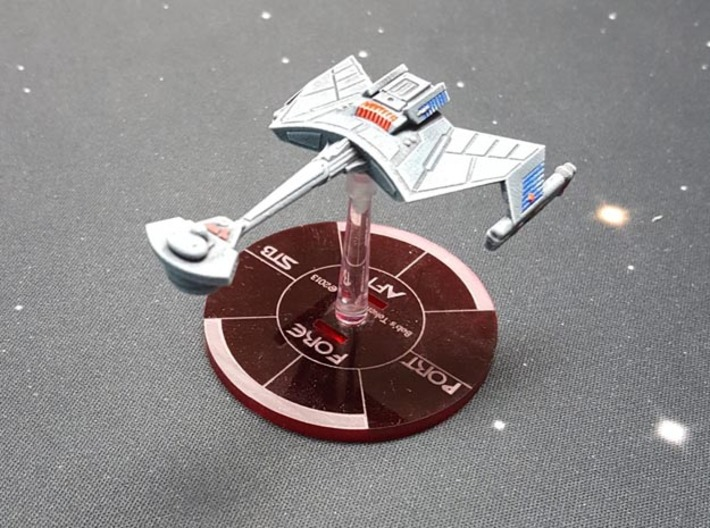 3788 Scale Klingon D7K Refitted Battlecruiser WEM 3d printed Ship (Smooth Fine Detail Plastic) painted by a fan. Stand not included.