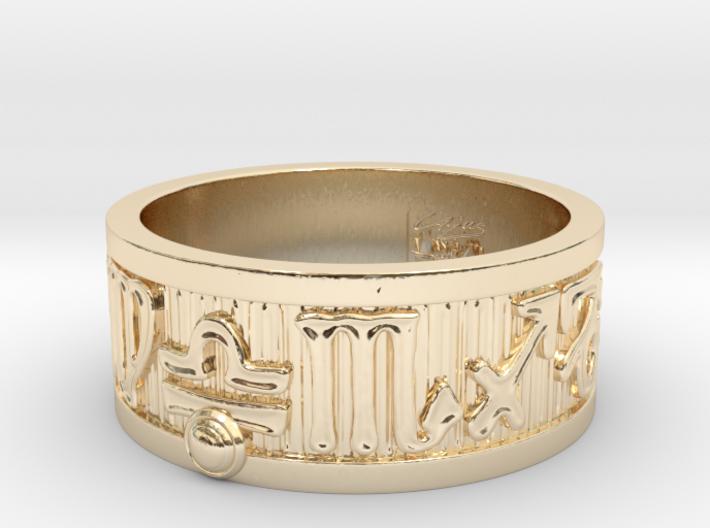 Zodiac Sign Ring Libra / 21.5mm 3d printed