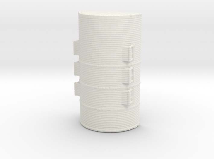 1/285th scale Nissen hut 3d printed