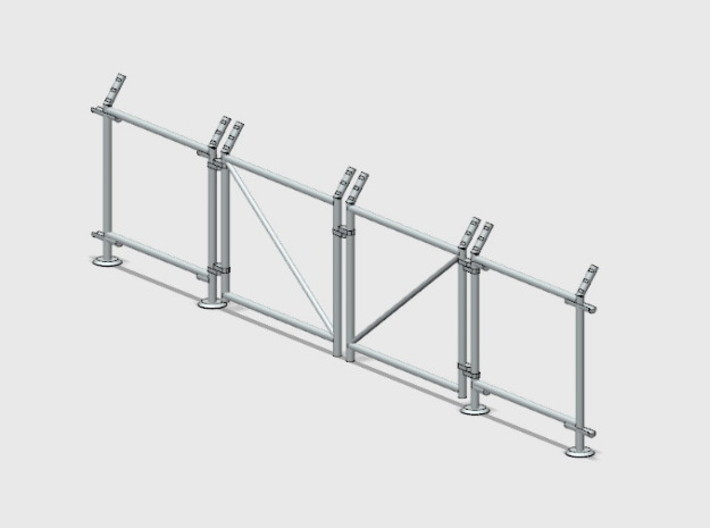 Chain-Link Security Fence 10' Double Gate, R/Latch 3d printed Part # CL-10-016