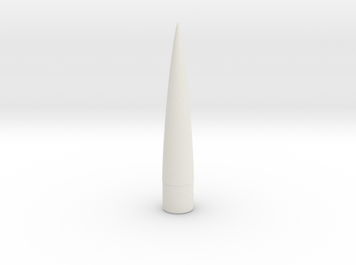 Nose Cone - 0.98 in - 5 to 1 von Karman 3d printed