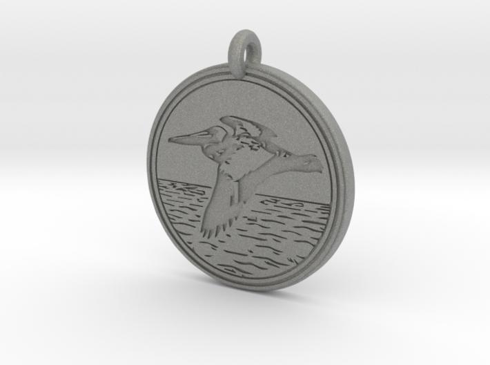 Brown Pelican Animal Totem Pendant 3d printed