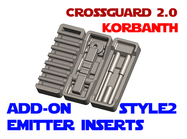 Korbanth Crossguard 2.0 - Emitter Inserts Style2 3d printed