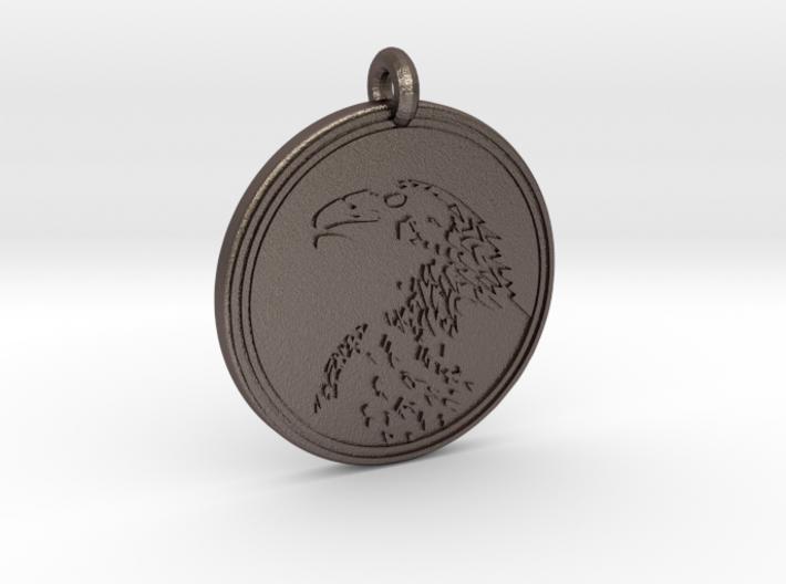 Golden Eagle Animal Totem Pendant 3d printed