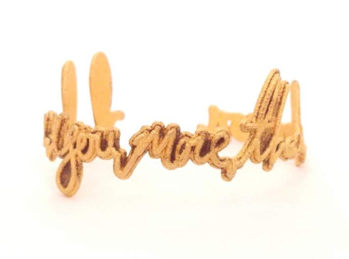 I Love You More Than Bacon Bracelet 3d printed