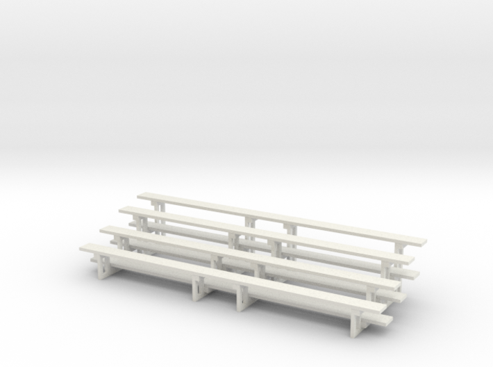Printle Thing Bleachers x 2 Horizontal - 1/48 3d printed