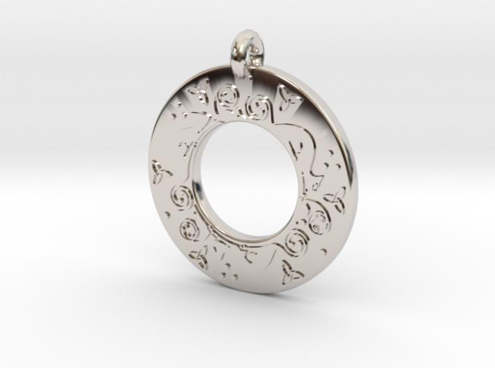 Celtic Cat Annulus Donut Pendant 3d printed
