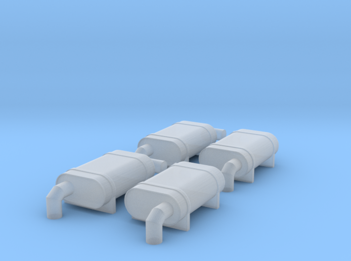 N Scale NS F Units Exhaust Mufflers 3d printed