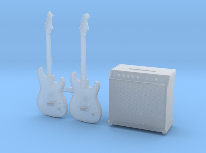 1/35 Stratocaster 2x and Amp MSP35-079 3d printed