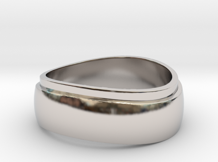Modern ring Size 9_5 3d printed