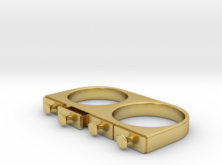 4-Drawer Ring, Open 3d printed