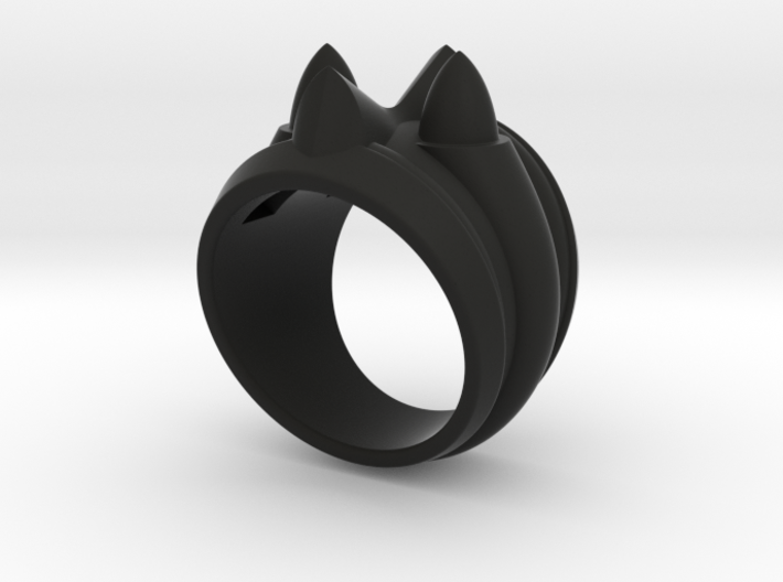 59 Caddy Cat Ring - Size 8 1/2 (18.59 mm) 3d printed
