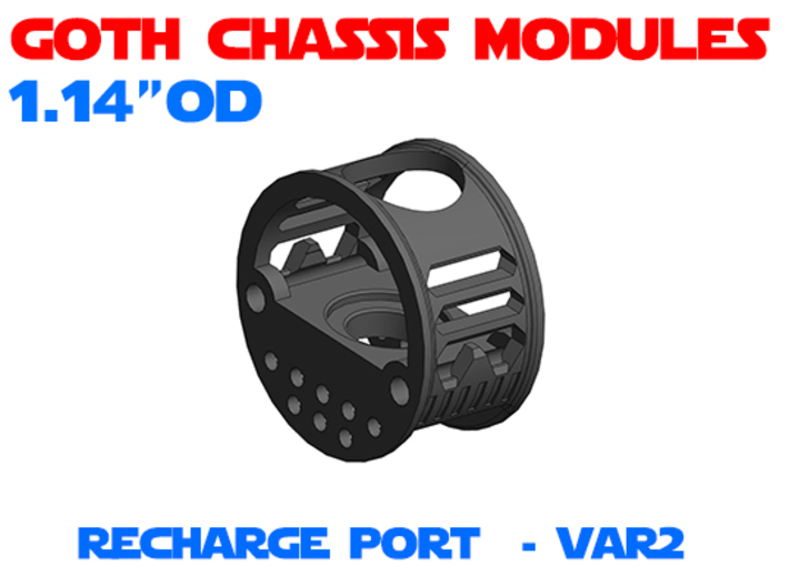 GCM114 - Recharge Port Chassis Var2 3d printed