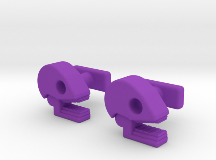 Mictlan cufflinks 3d printed Traditional color of the Day of the Death festivity.