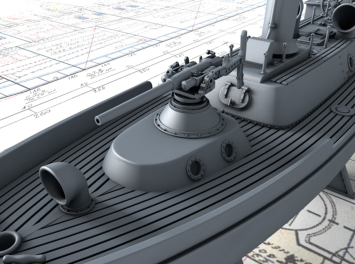 1/200 Royal Navy 50ft Steam Pinnace x1 3d printed (Not included) Hotchkiss 3 Pounder, see Link in description