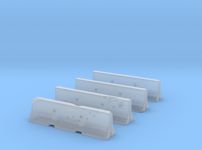 Jersey Barriers Set 4 pieces - undamaged, 28mm sca 3d printed