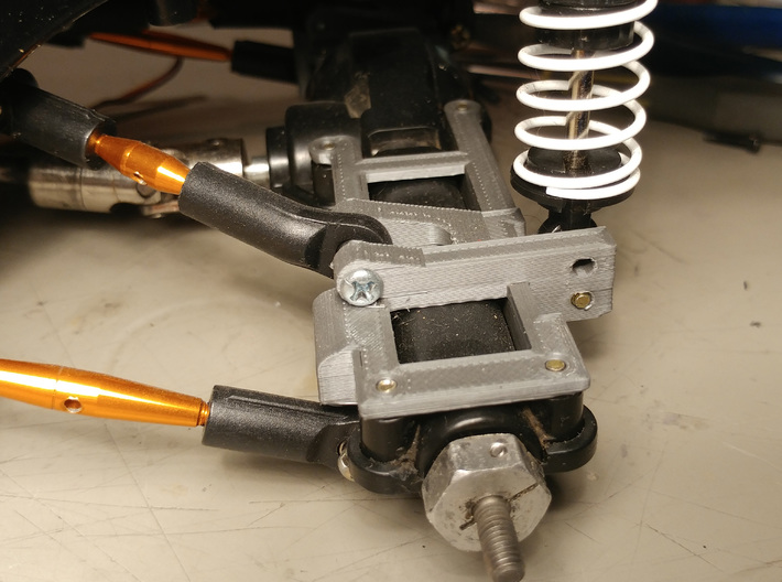 The best CC01 rear axle link/shock mount setup 3d printed