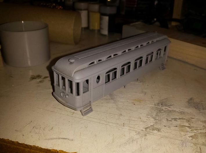 Descanso HO scale - Roof 3d printed Full Descanso model shown, this sale is for the Roof ONLY.