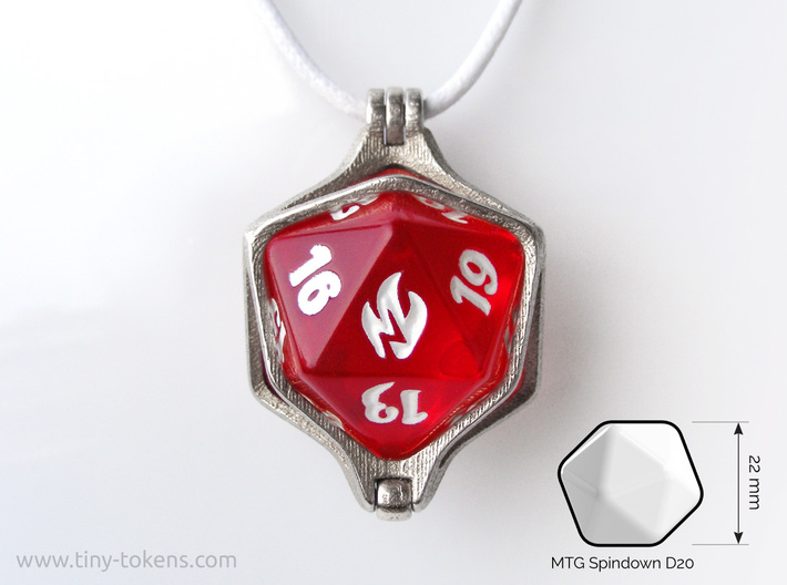 Dice Pendant - 22 mm (MTG Spindown) 3d printed
