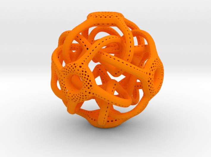 Cubic Octahedral Symmetry Perforation Type 1 3d printed