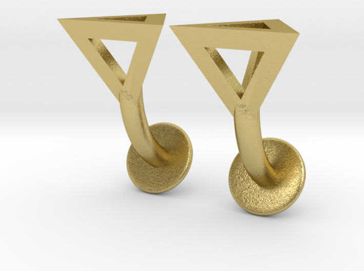 Tetrahedron Cufflinks 3d printed