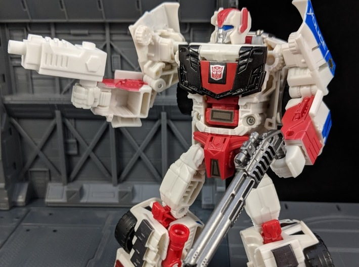 TF CW Streetwise Wide Car Cannon Adapter 3d printed Used as a hand weapon