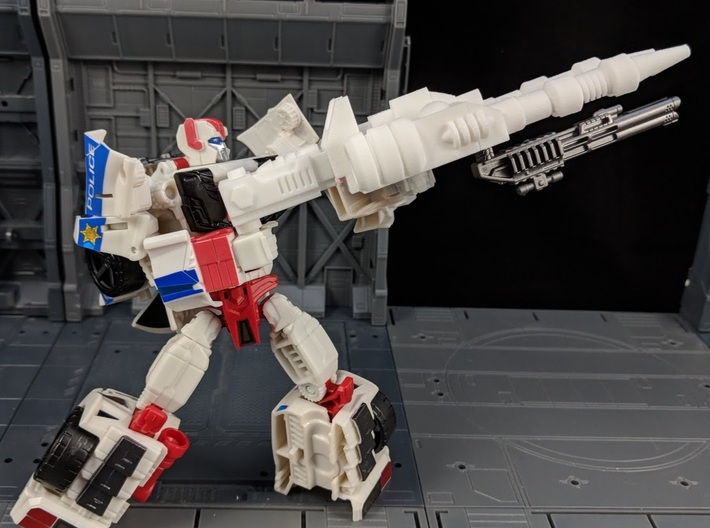 TF Combiner Wars Streetwise Car Cannon 3d printed Combined with cannon adapter in Robot Mode