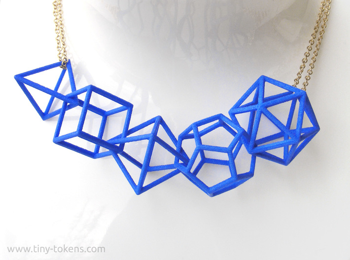 Platonic Solids Wireframe Pendant 3d printed