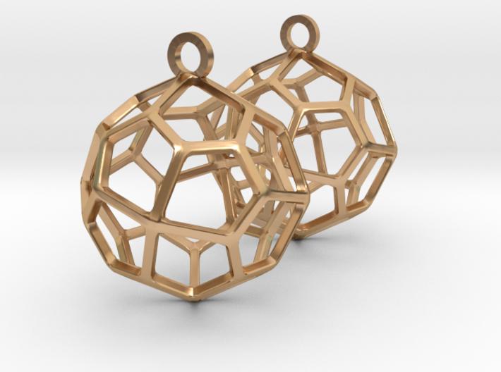 Pentagonal Icositetrahedron Earrings 3d printed